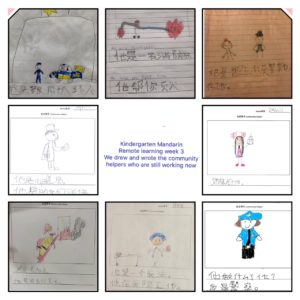 Kindergarten Week 2 Community Helpers drawings