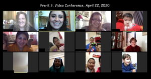 PreK3 on zoom