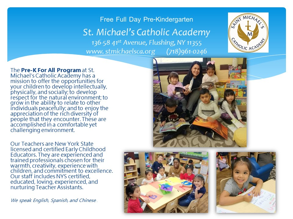 Front of PreK Flyer with information in English