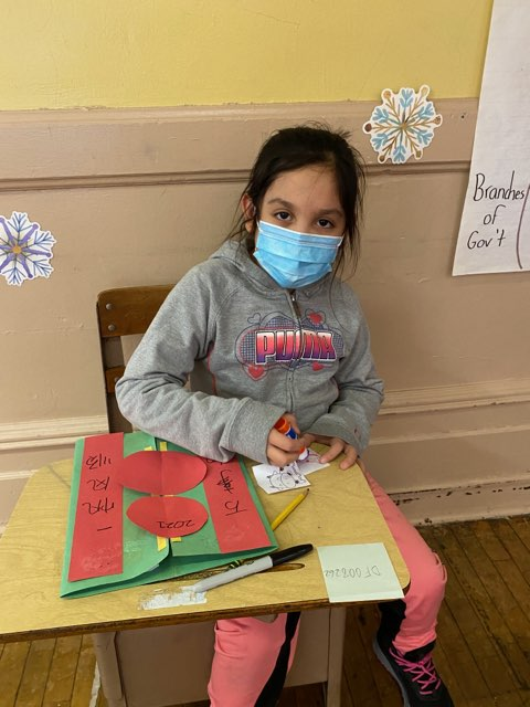 Grade 2 Student working on Chinese New Year Project
