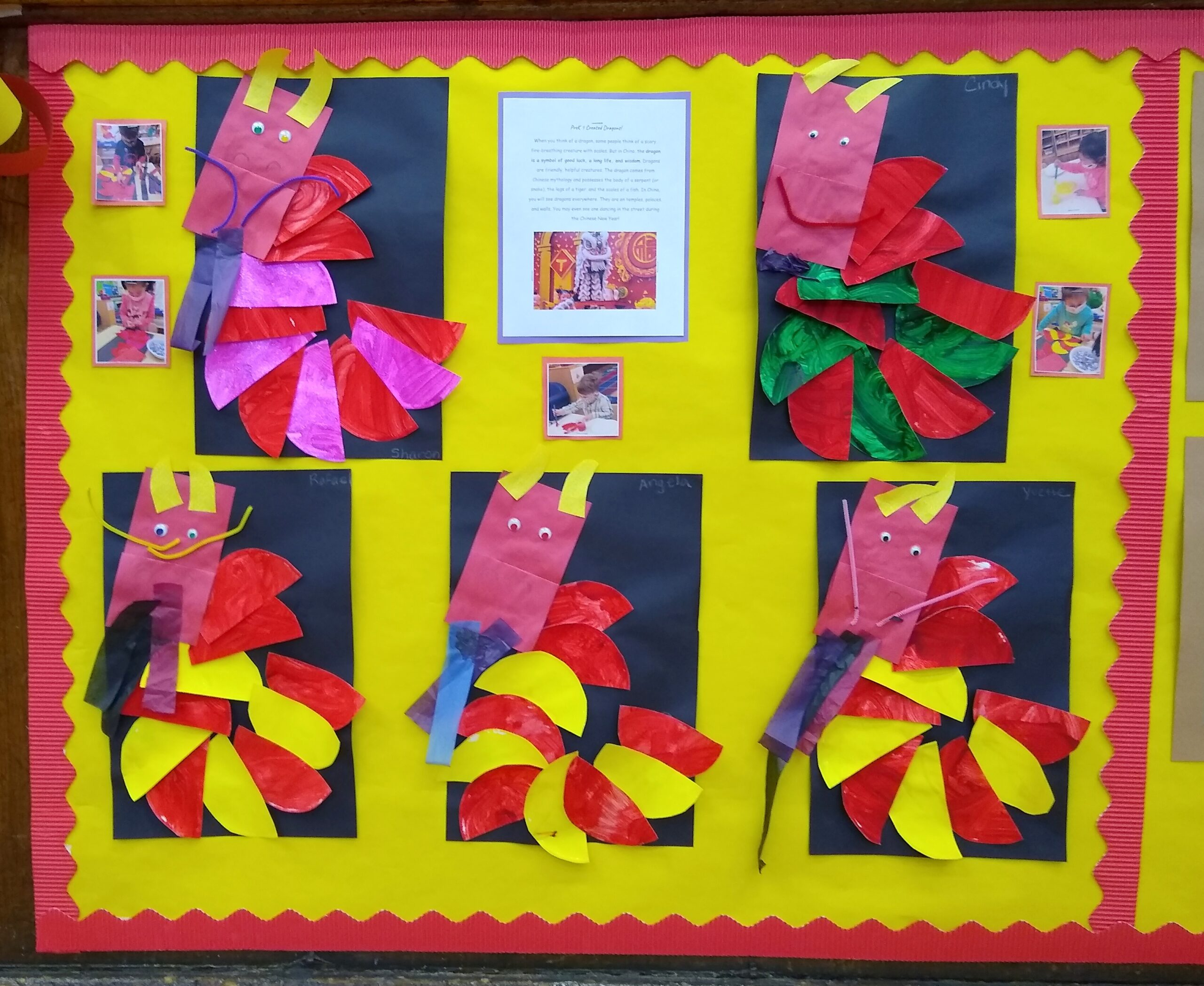 Chinese New Year Display in Gym