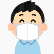 clipart of boy wearing a facemask