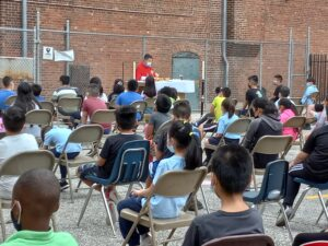 Mass celebrated in our schoolyard